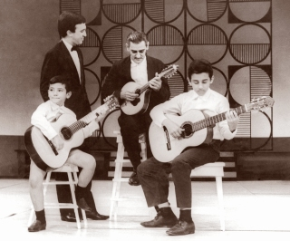 Young Duo Assad and their father, Seu Jorge