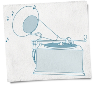gramophone-drawing